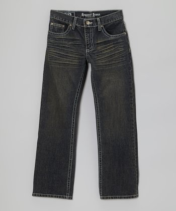 Dark Wash Benston Straight-Leg Jeans - Boys