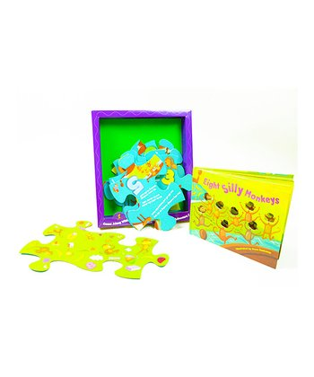 Eight Silly Monkeys Book, Puzzle & Game Deluxe Set