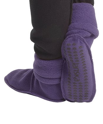 Plum MocSock Booties