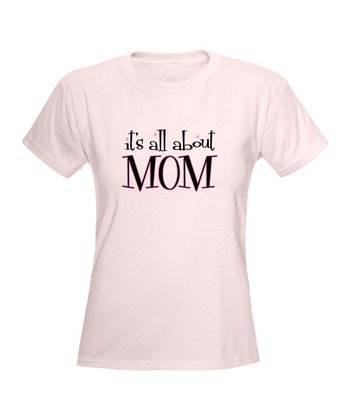 Light Pink 'All About Mom' Tee