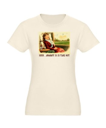 White 'Shhh ... Mommy Is In Time Out' Organic Tee