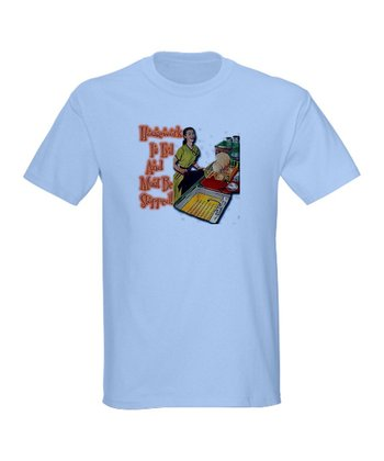 Light Blue Retro 'Housework Is Evil' Tee