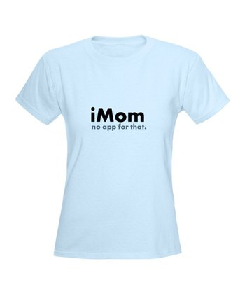 Light Blue 'iMom' Tee