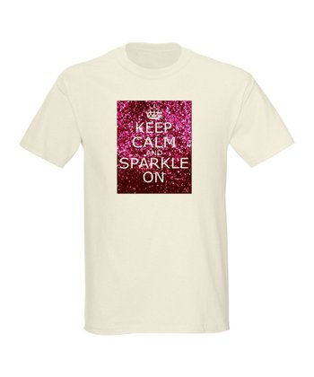Natural 'Keep Calm and Sparkle On' Tee