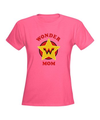 Pink 'Wonder Mom' Superhero Tee