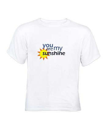 White 'You Are My Sunshine' Tee