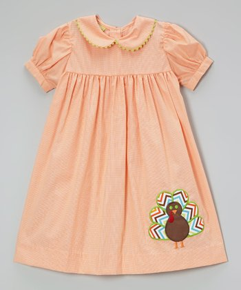 Orange Turkey Dress - Infant & Toddler