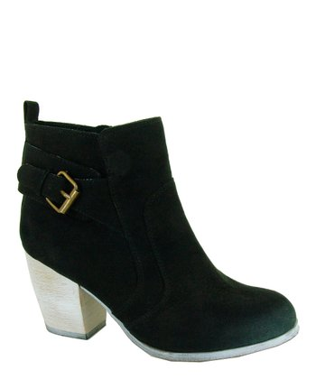 Black Maze Buckle Boot
