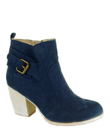 Navy Maze Buckle Boot