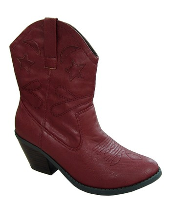 Burgundy Muse Cowboy Boot