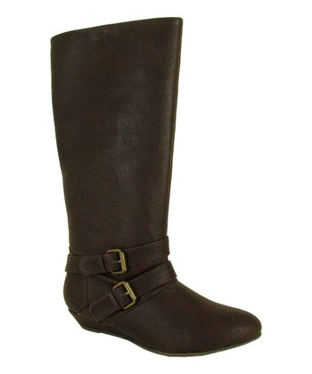 Brown Nesha Buckle Boot