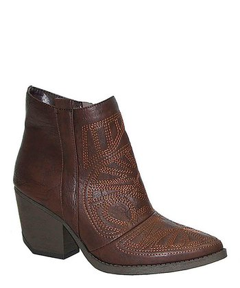 Brown Newton Stitched Ankle Boot