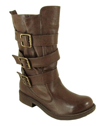 Brown Raggae Buckle Boot