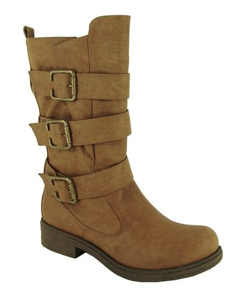 Taupe Raggae Buckle Boot