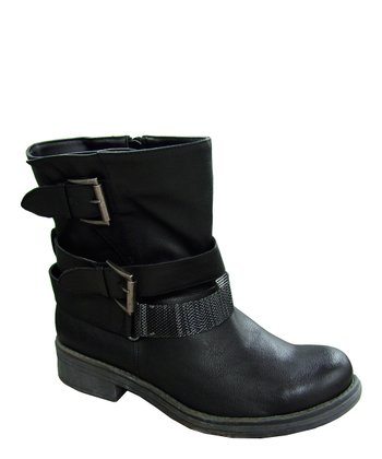 Black Raggae Chain Boot