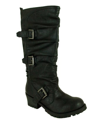 Black Reactor Buckle Boot
