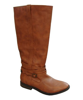 Cognac Vance Buckle Boot