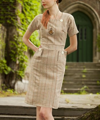 Camel Professional Wool Dress