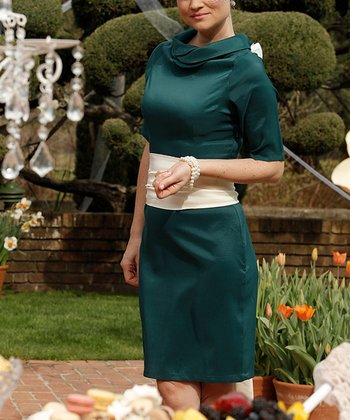 Green Save The Date Dress