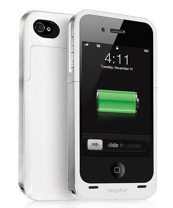 White Juice Pack Battery Case for iPhone 4/4S