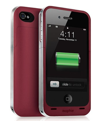 Red Juice Pack Battery Case for iPhone 4/4S
