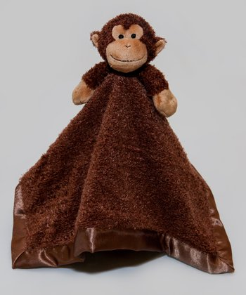 Brown Monkey Tag-a-Long Blanket
