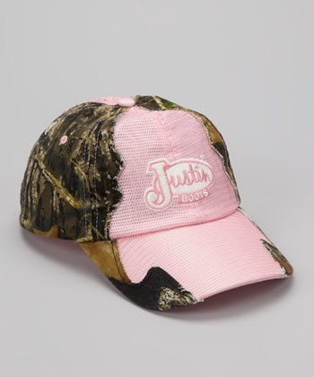 Brown Camo & Pink Trucker Baseball Cap