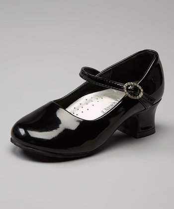 Black Patent Rhinestone Mary Jane