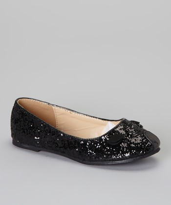Black Glitter Mause Flat