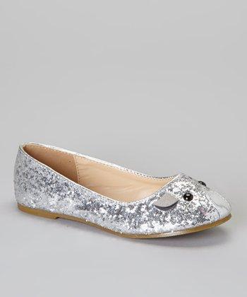 Silver Glitter Mause Flat