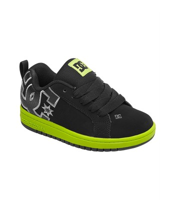 Green & Black Court Graffik Sneaker