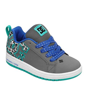 Charcoal & Blue Court Graffik Sneaker