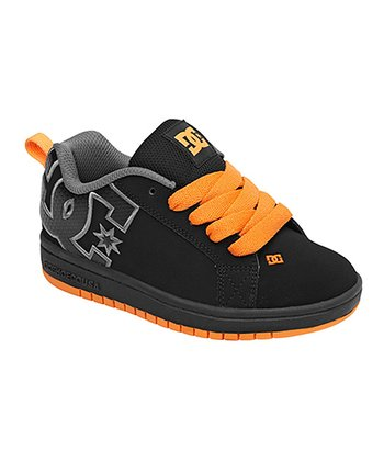 Black & Orange Court Graffik S Sneaker
