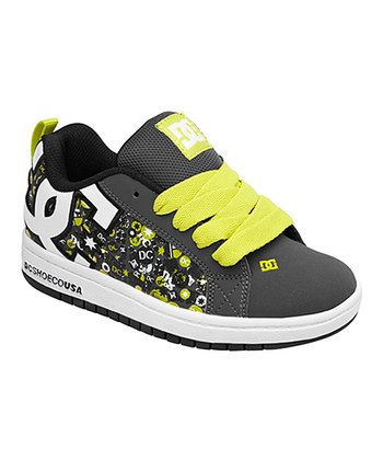 Charcoal & Neon Yellow Court Graffik S Sneaker