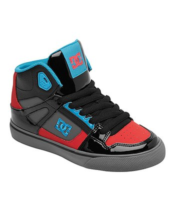 Black & Athletic Red Spartan Hi-Top Sneaker