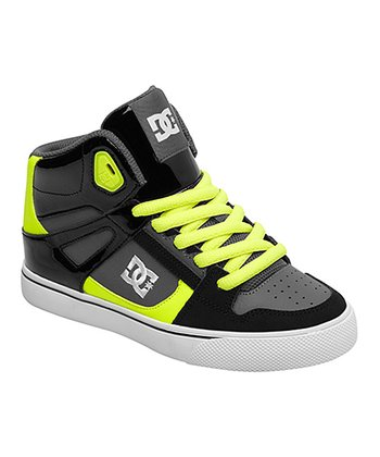 Black & Yellow Spartan Hi-Top Sneaker