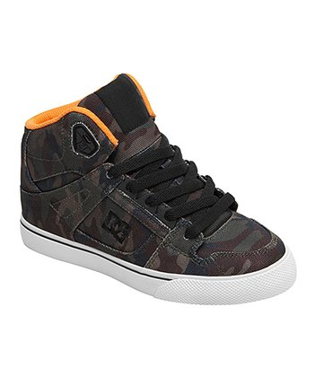 Brown & Orange Camo Spartan SP Hi-Top Sneaker