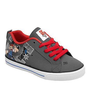 Court Charcoal & Red Graffik V B Sneaker