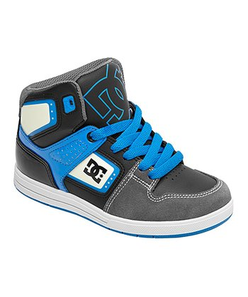 Charcoal & Blue Destroyer High B Hi-Top Sneaker