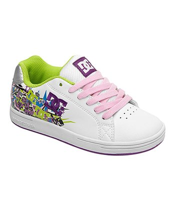 White & Pink Pixie Rock Sneaker
