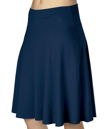 Navy Cascade Skirt - Women