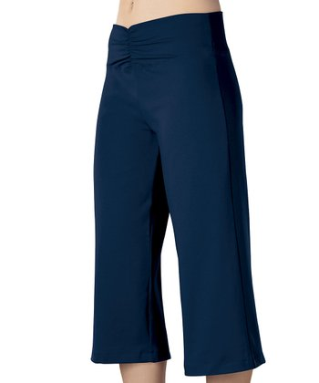 Navy Meridian Capri Pants - Women