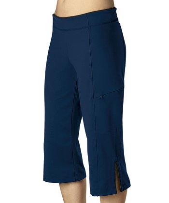 Navy Rockin Capri Pants - Women