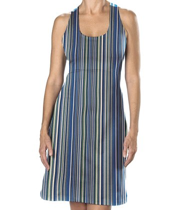 Cool Blue Stripe Lyra Dress - Women