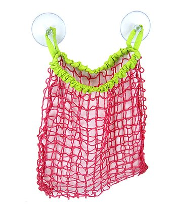 Pink Mesh Bath Toy Bag