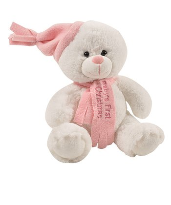 Pink Baby First Christmas Teddy Bear
