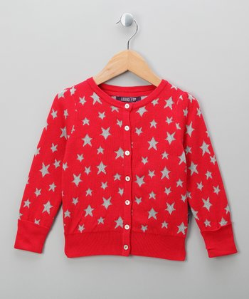 Red Star Cardigan - Infant, Toddler & Girls