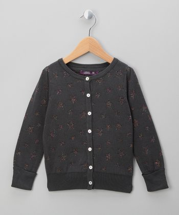 Almost Black Star Cardigan - Infant, Toddler & Girls