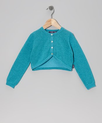 Aqua Metallic Bolero - Infant, Toddler & Girls