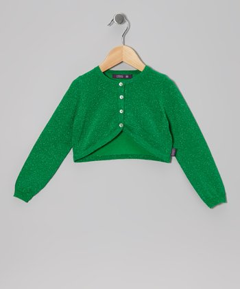 Grass Green Metallic Bolero - Infant, Toddler & Girls